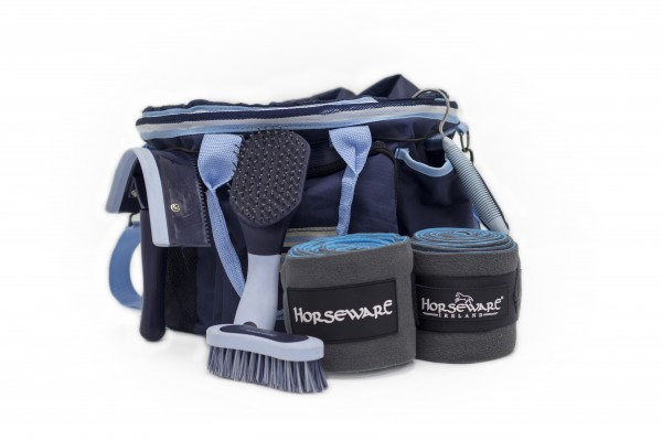 Rambo Grooming Kit Whitney Stripes Navy