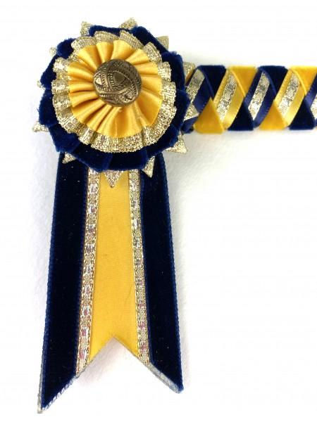 Detail Ribbon yellow - navy