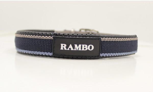 Rambo Dog Collar Whitney Navy