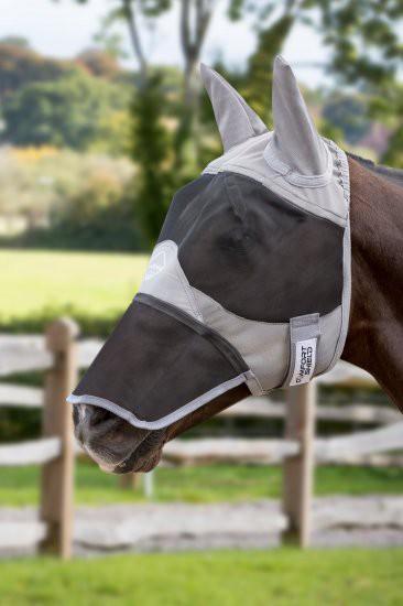 Fliegenmaske mit Ohren- & Nasenschutz